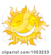 Royalty Free Vector Clip Art Illustration Of A Sun Smiling