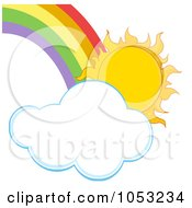 Sun With A Cloud And Rainbow
