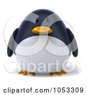 Royalty Free 3d Clip Art Illustration Of A 3d Penguin Character Facing Front by Julos