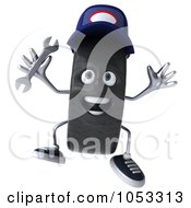 Royalty Free 3d Clip Art Illustration Of A 3d Tire Mechanic Character Jumping