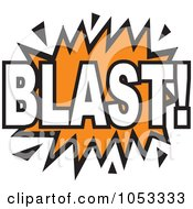 Royalty Free Vector Clip Art Illustration Of A Blast Comic Burst 4 by Prawny