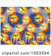 Background Pattern Of Suns