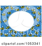 Bee Frame With White Space 4