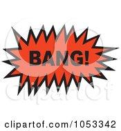 Royalty Free Vector Clip Art Illustration Of A Bang Comic Burst 2