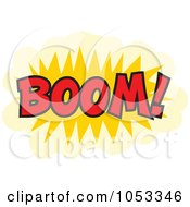 Royalty Free Vector Clip Art Illustration Of A Boom Comic Burst 3