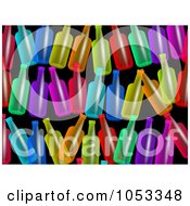 Royalty Free Clip Art Illustration Of A Background Pattern Of Colorful Bottles by Prawny