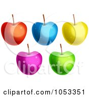 Royalty Free Clip Art Illustration Of A Digital Collage Of Colorful Apples