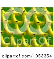 Royalty Free Clip Art Illustration Of A Background Pattern Of Bananas 2 by Prawny