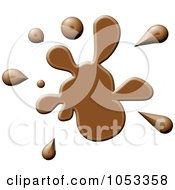 Royalty Free Clip Art Illustration Of A Brown Paint Splatter