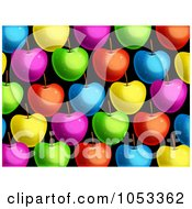 Royalty Free Clip Art Illustration Of A Background Pattern Of Xolorful Apples