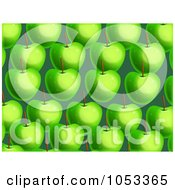 Royalty Free Clip Art Illustration Of A Background Pattern Of Green Apples