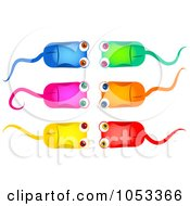 Royalty Free Clip Art Illustration Of A Digital Collage Of Colorful Computer Mice by Prawny