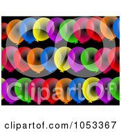 Royalty Free Clip Art Illustration Of A Background Pattern Of Colorful Party Balloons