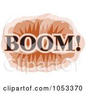 Royalty Free Vector Clip Art Illustration Of A Boom Comic Burst 1 by Prawny