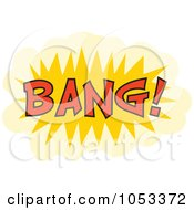 Royalty Free Vector Clip Art Illustration Of A Bang Comic Burst 3 by Prawny