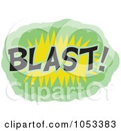 Royalty Free Vector Clip Art Illustration Of A Blast Comic Burst 1 by Prawny