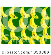 Royalty Free Clip Art Illustration Of A Background Pattern Of Bananas 1 by Prawny
