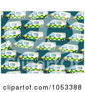 Royalty Free Clip Art Illustration Of A Background Pattern Of Ambulances