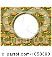 Royalty Free Clip Art Illustration Of A Cheeseburger Frame With White Space by Prawny