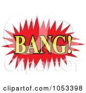 Royalty Free Vector Clip Art Illustration Of A Bang Comic Burst 1