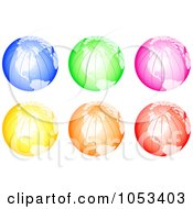 Royalty Free Clip Art Illustration Of A Digital Collage Of Colorful Globes