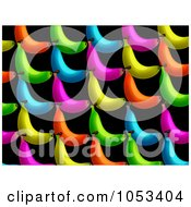 Royalty Free Clip Art Illustration Of A Background Pattern Of Colorful Bananas by Prawny