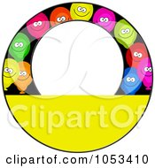 Royalty Free Clip Art Illustration Of A Round Border Of Party Balloons