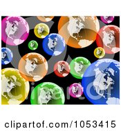 Royalty Free Clip Art Illustration Of A Background Of Colorful Globes