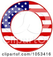 Royalty Free Clip Art Illustration Of A Round American Flag Border