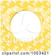 Royalty Free Clip Art Illustration Of A Bee Frame With White Space 1 by Prawny