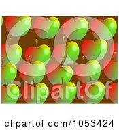 Royalty Free Clip Art Illustration Of A Background Pattern Of Apples