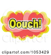 Royalty Free Vector Clip Art Illustration Of An Ouch Comic Burst 1