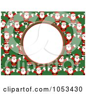 Santa Frame With White Space