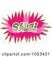 Royalty Free Vector Clip Art Illustration Of A Sale Comic Burst 1 by Prawny