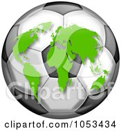 Continents On A Soccer Globe