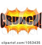Royalty Free Vector Clip Art Illustration Of A Crunch Comic Burst 3 by Prawny