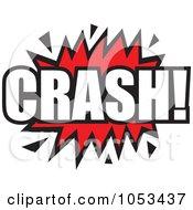 Royalty Free Vector Clip Art Illustration Of A Crash Comic Burst 4 by Prawny