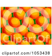 Royalty Free Clip Art Illustration Of A Background Pattern Of Oranges 2 by Prawny