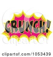 Royalty Free Vector Clip Art Illustration Of A Crunch Comic Burst 2 by Prawny