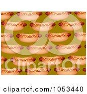 Royalty Free Clip Art Illustration Of A Background Pattern Of Hot Dogs by Prawny