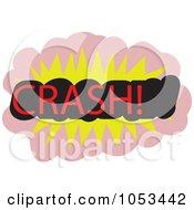 Royalty Free Vector Clip Art Illustration Of A Crash Comic Burst 3 by Prawny
