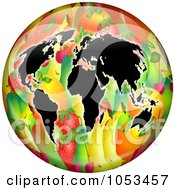Continents On A Fruit Globe
