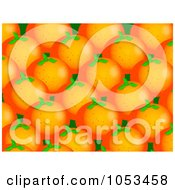 Royalty Free Clip Art Illustration Of A Background Pattern Of Oranges 1 by Prawny