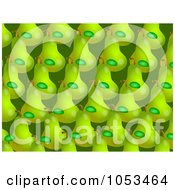 Royalty Free Clip Art Illustration Of A Background Pattern Of Pears 1