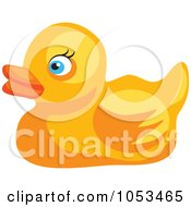 Royalty Free Vector Clip Art Illustration Of A Yellow Rubber Duck by Prawny
