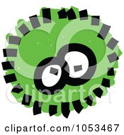Royalty Free Vector Clip Art Illustration Of A Fluffy Green Germ by Prawny