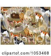 Background Pattern Of Dogs