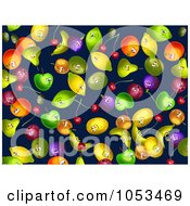 Royalty Free Clip Art Illustration Of A Background Pattern Of Fruit