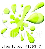 Royalty Free Clip Art Illustration Of A Lime Green Paint Splatter by Prawny