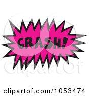 Royalty Free Vector Clip Art Illustration Of A Crash Comic Burst 2 by Prawny